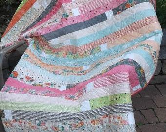 Patchwork Quilts for Sale - Cozy Quilt - Patchwork Quilts - Pastels Lap Quilt