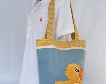 Duckie Tote & Diaper Bag