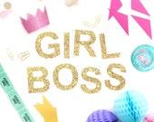 Girl Boss Glitter Garland
