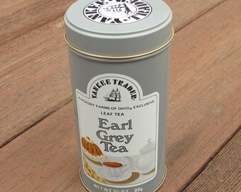 Earl Grey Vintage 3-1/2 oz. Tea Tin by Yankee Trader in Light Gray