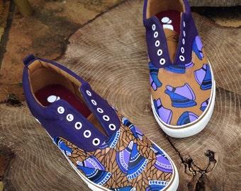 Men's Purple Tribal Shoes