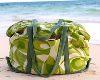 Large Beach Bag Tote Bag Pattern in PDF Instant Download
