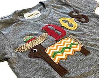 "Swanky Shank Gender Neutral ""Dos"" Birthday Shirt"