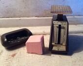Vintage, Office Supplies, Postal Scale, Postage stamp, holder, Desk Supplies, Props, Industrial, All Vintage Man