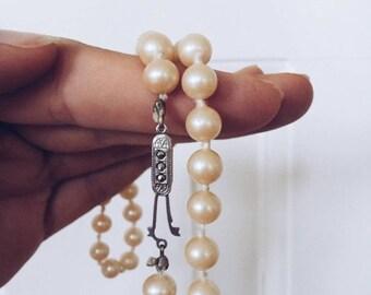 SALE Danish Vintage Pearl Necklace