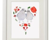 Valentines day print, engagement gift, wedding gift, love print