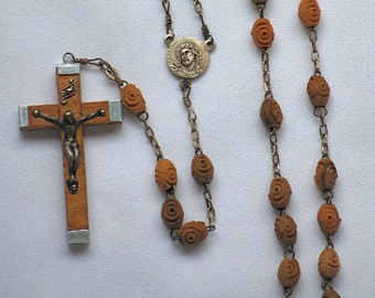 Antique Wood Rosary