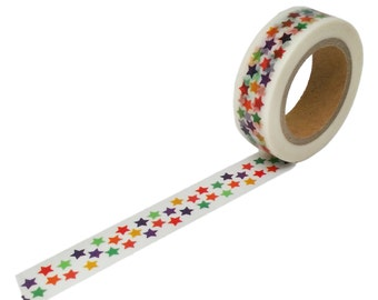 Rainbow Star Washi Tape, 15mm x 10m
