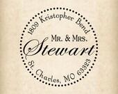 Return address stamp,SELF INKING custom address stamp,personalized wedding address stamp,family address stamp,R83