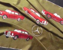 Vintage New Mercedes Benz Scarf Samada Silk Scarf