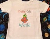 Outta This World - Embroidered Tee Shirt - 2 to 5