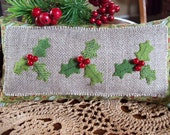 Holly Jolly Christmas Shelf Pillow Tuck