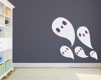 Ghost Family Wall Decal Sticker - Ghost Decal, , Halloween Decal, Halloween Wall Art, Ghost Decor, Ghost Decoration, Fall Wall Decal