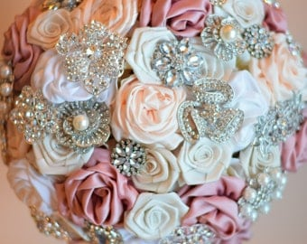 Satin Flower Brooch Bouquet Deposit