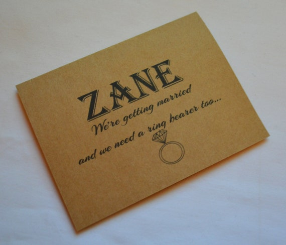 Will you be our ring bearer card PERSONALIZED NAME RING Bearer proposal card bridesmaid card bridal party card cute custom ring bearer cards
