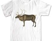 Reindeer Deer Antlers Forest Animals T-shirt Women Men Children Small, Medium, Large, XL