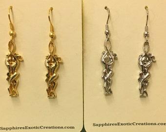 Logo, sexy couple earrings