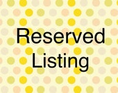 Reserved Listing for Clara