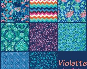 ON SALE Amy Butler Fabric - 8 Fat Quarter Bundle Violette Morning Palette