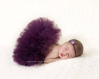 PLUM TUTU SET, Newborn Photo Prop, Plum Tutu and Headband, Newborn Tutu, Baby Tutu, Newborn Photo Props, Newborn Tutu Set, Infant Tutu