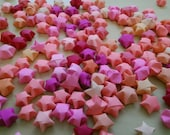 100 Assorted Pink Origami Stars