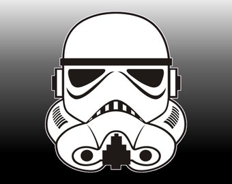 Star Wars Storm Troopers-1 Full body outlined and 2-Head Layered Svg-eps-dxf Cricut