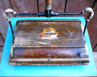 Antique Ewbank Success English Oak Victorian Carpet Sweeper Primitive Cottage Industrial Farmhouse Rustic French Country Maid Housekeeping