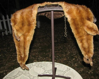 SALE Vintage Full Minks Shawl Bodeneck and Jacobs Leading Furriers Spokane Washington USA Shipping and Tracking Included in Price