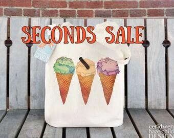 SECONDS SALE Ice Cream Tote Bag