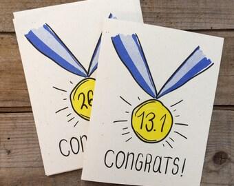 Congratulations on Running Your Marathon Greeting Card