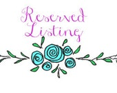 Reserved Listing for Halley