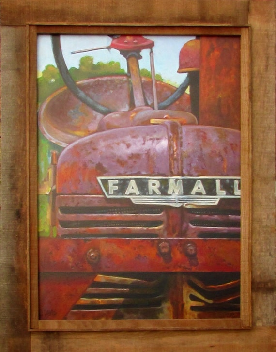 Farmall Tractor Painting : Farmall tractor acrylic painting