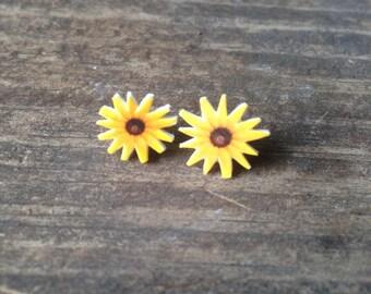 Black eyed susan earrings jewelry flower flowers botanical plant nature
