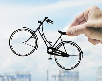 Bicycle - Handmade Original Paper Cut Home Decor Gift - UNFRAMED