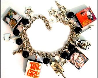 Tank Girl Comic Book Punk Charm Bracelet