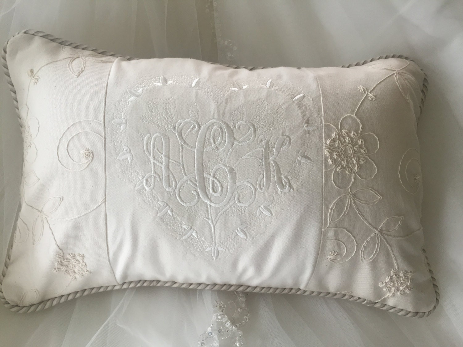 Decorative Pillows With Monogram : Wedding or Anniversary Monogrammed Decorative Pillows
