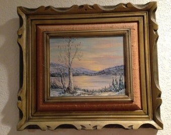 Frozen Sunset in Alaska, painting by Ethel Adair.