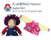 "Raglan Shirt for Waldorf Dolls (for 8"", 10"", 12"", 15"", 18"" and 20"" dolls) PDF INSTANT DOWNLOAD"