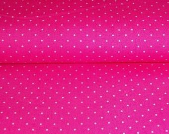 0,5 x 1,45 m cotton fabric DOTS (Paisley Roses) pink, 100% cotton