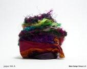 vintage sari silk ribbon - 17 feet, jaipur (inv s-66) pick your colorway