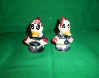 One (1) Circa 1940, Woody Woodpecker Salt & Pepper Shaker Set.