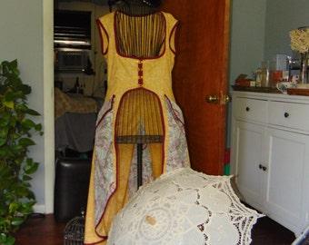 Steampunk Style Asymetrical  Wedding Jacket