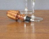 Wine bottle stopper made from timborana wood, wood turned bottle stopper