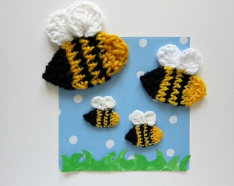 1pc Crochet BEE Applique