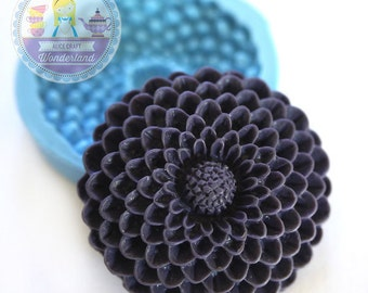 Pom Pom Flower Cameo 35mm Bakery Silicone Flexible Push Mold 120L* BEST QUALITY