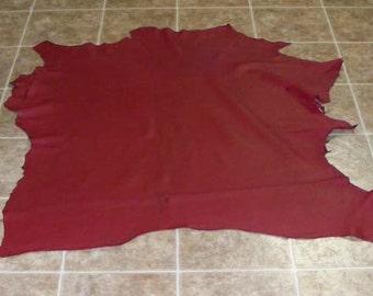GAC5395-4) Skin of Grade 1 Wine Elk Leather Hide