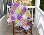 Purple Rag Quilt, Ready to ship rag quilt, Lap rag quilt, Couch Rag quilt, Toddler Rag quilt, Reversible Rag quilt,