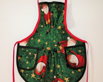 Santa Christmas Apron for child - Copyright 1997 by Mary's Harvest Thyme Aprons