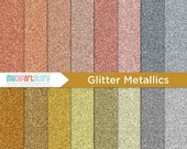 50% OFF SALE Digital Texture -  Metallic Glitter / Bronze / Copper / Rose Gold / Fine Sparkle Glitter / Shimmer Papers - Instant Download