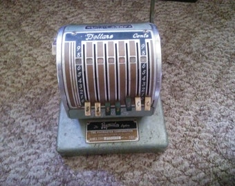 Vintage Paymaster Check Register or Check Writing Machine by Paymaster Corporation Chicago, Illinois